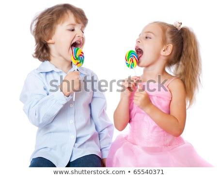 child loves candy Stock photo © OleksandrO