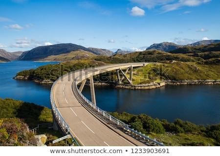 Estrada beira da estrada cenário escócia dramático céu Foto stock © prill
