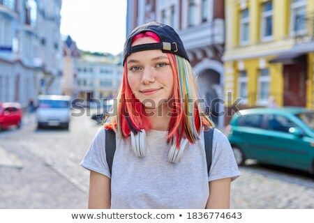 Beautiful trendy casual teenager Stock photo © stockyimages
