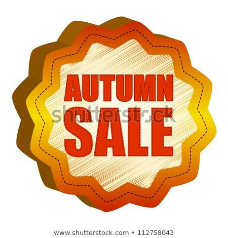 autumn offer starlike label Stock photo © marinini