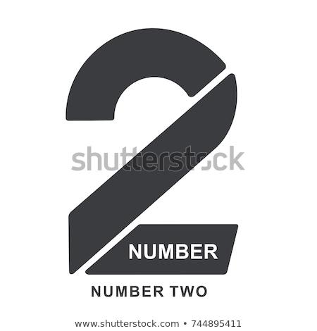 Stok fotoğraf: Numara · iki · tebeşir · yeşil · kara · tahta