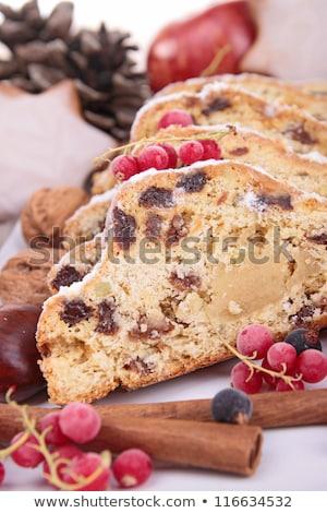 Vörös ribiszke gyümölcs ünneplés édes dekoráció fahéj Stock fotó © M-studio