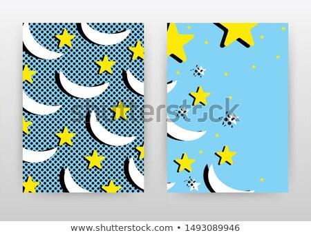 kék · mappa · citromsárga · csillag · fehér · rajzfilmkarakter - stock fotó © tashatuvango