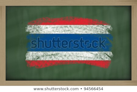 Flag Of Thailand On Blackboard Painted With Chalk Foto stock © vepar5