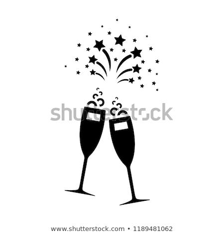 ボトル シャンパン カップ ワイン ガラス 表 ストックフォト © inaquim