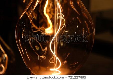 Sombra luz mulher de negócios lâmpada cabeça em pé Foto stock © jayfish