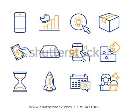fehér · puzzle · kék · üzlet · földgömb · építkezés - stock fotó © tashatuvango