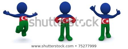 3D характер флаг Азербайджан изолированный Сток-фото © Kirill_M