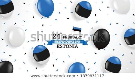 Balão bandeira Estônia feliz viajar Foto stock © vepar5