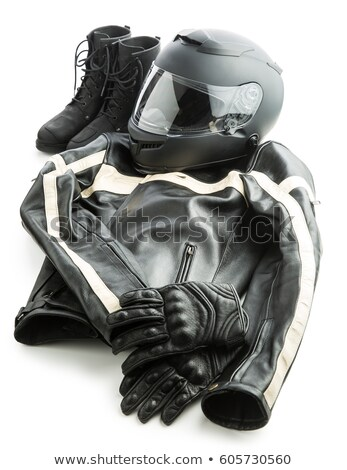 Pair of shoes, helmet and gloves Stock photo © AndreyPopov