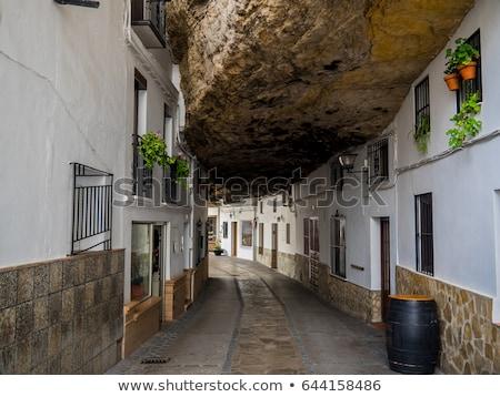 ストックフォト: アンダルシア · スペイン · 建物 · 背景 · 木 · 石