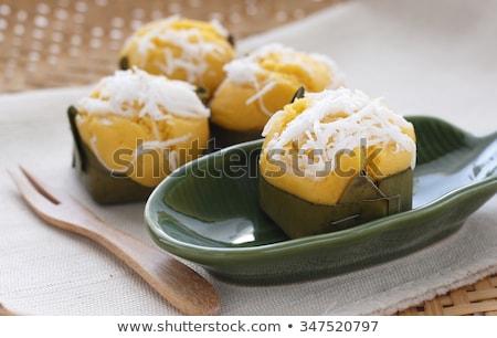 textúra · organikus · kókusz · cukor · vág · virág - stock fotó © smuay