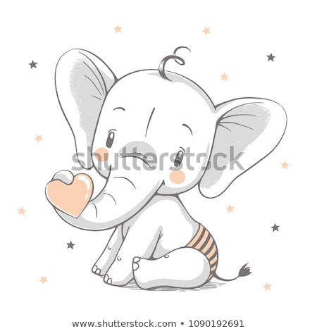 Stock photo: elephant with baby elephant