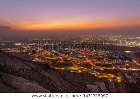 beyaz · cami · minare · mavi · gökyüzü · Umman · güneş - stok fotoğraf © w20er