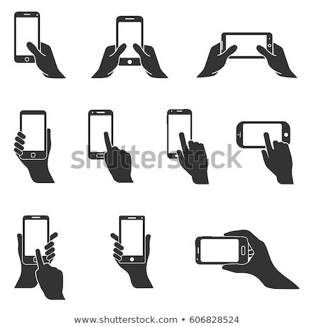 белый смартфон стороны курсор серый прибыль на акцию Сток-фото © limbi007