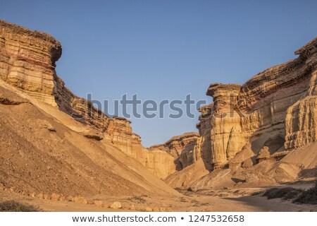 岩石層 砂漠 日没 風景 ナミビア アフリカ ストックフォト © artush