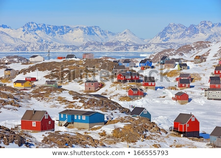 colorful houses in kulusuk greenland stock photo © mady70