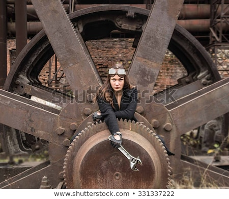 Attractive steampunk girl wearing googles Stock photo © Nejron