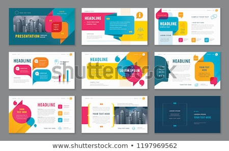 set of flyer design infographic layout brochure designs stock photo © davidarts