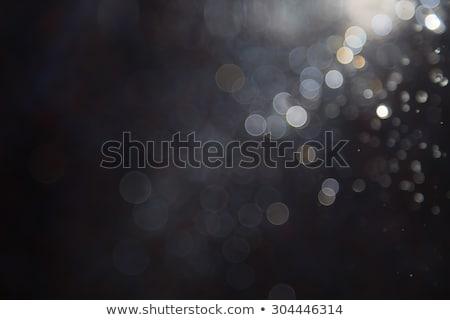 Stock fotó: Fotó · bokeh · fények · fekete · tűzijáték · absztrakt