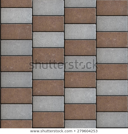 Colorful Paving Rectangles in the Form of Oblique Lines. Stock photo © tashatuvango