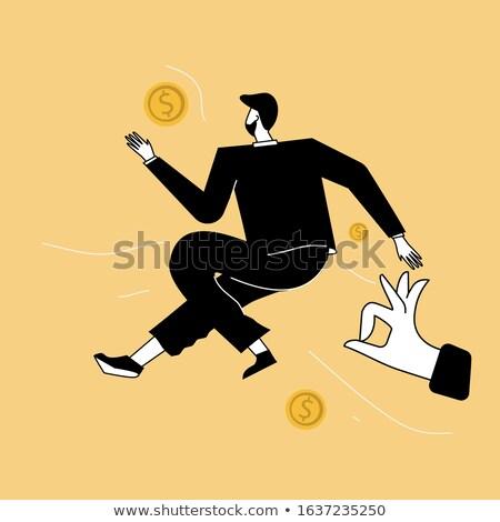 iş · adamı · büyük · atlamak · yalıtılmış · iş · mutlu - stok fotoğraf © fuzzbones0