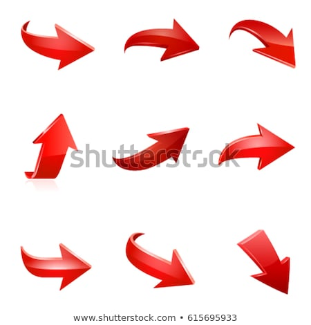 Recycle Arrow Red Vector Icon Design Stock photo © rizwanali3d