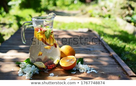 природного лимонад стекла воды фрукты чай Сток-фото © Spectral