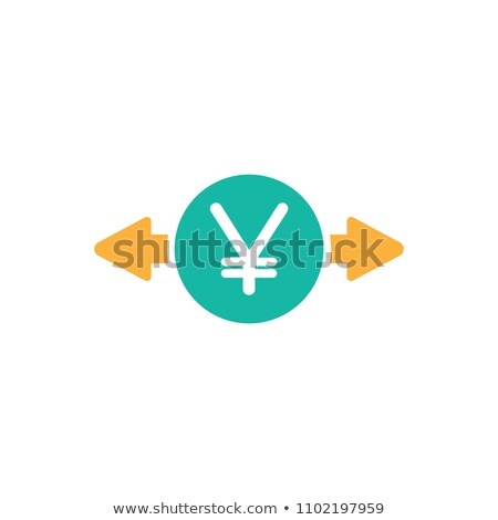 Foto stock: Yen · moeda · assinar · vetor · azul
