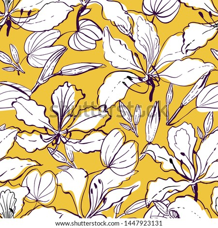 sketchy flowers stock photo © frescomovie