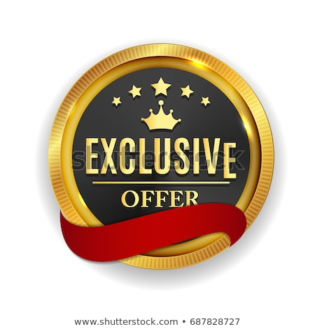 Exclusive Offer golden Vector Icon Design Stock photo © rizwanali3d