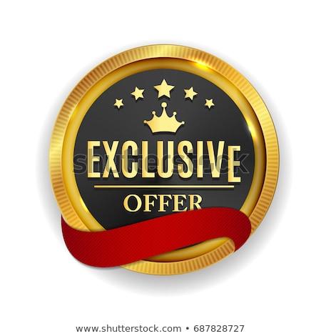 Exclusive Offer golden Vector Icon Design Stock photo © rizwanali3d