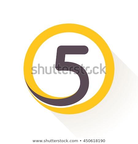Aantal vector Geel web icon ontwerp digitale Stockfoto © rizwanali3d