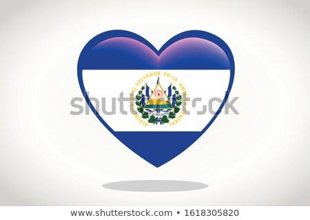 El Salvador Heart flag icon Stock photo © netkov1