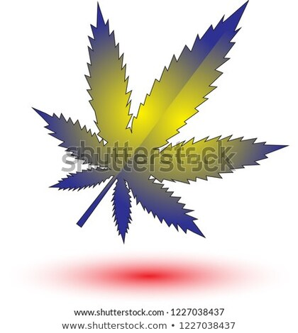 green marijuana cannabis decorative shape design Stock photo © Zuzuan