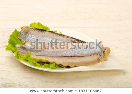 Peixe filé salada Foto stock © M-studio