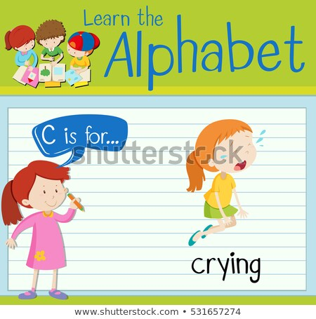 Flashcard alphabet c is for crying Stock photo © bluering