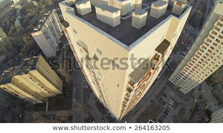 high-rise buildings and trees yellowed Stock photo © OleksandrO