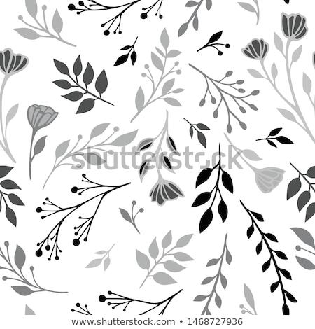 Stockfoto: Simple Seamless Minimalistic Floral Winter Pattern