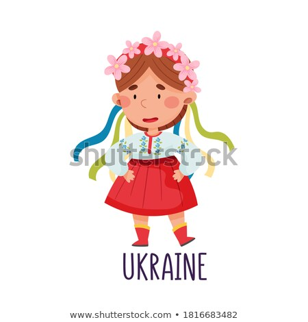Little girl in Ukrain outfit Stock photo © bluering