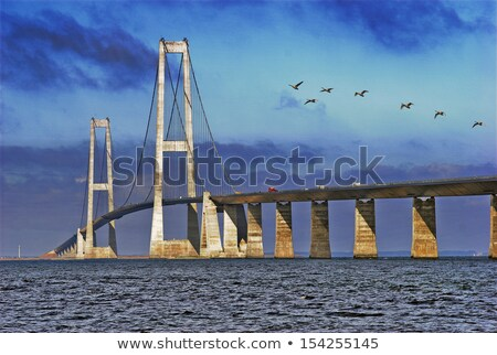 bridge great belt denmark stock photo © compuinfoto