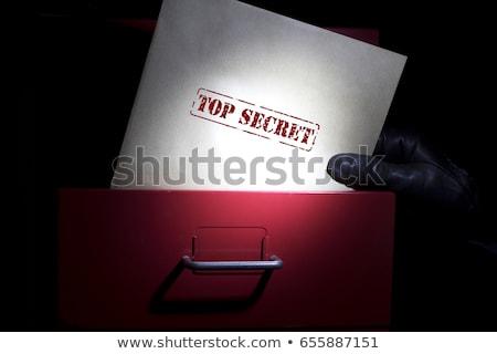 Felső titok papír irat levél sablon Stock fotó © romvo
