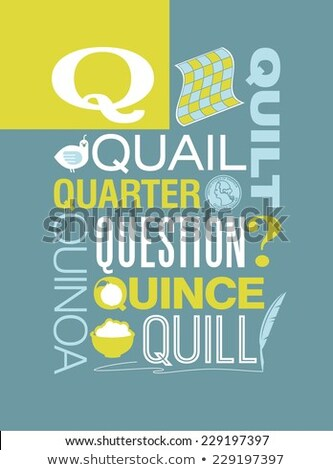 Education poster for words starting with Q Stock photo © bluering