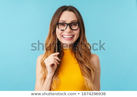 Retrato jovem bastante menina falsificação Foto stock © deandrobot