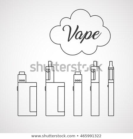 vector vaporizers mods types illustration Stock photo © TRIKONA