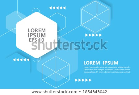 abstract geometric hexagon pattern decoration Stock photo © SArts