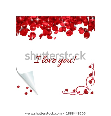 White page curl corner on blank sheet of paper. Turn paper sticker with flip edge isolated on transp Stock photo © olehsvetiukha