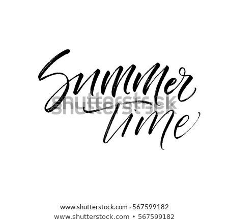 夏 · 時間 · はがき · 季節の · インク · 実例 - ストックフォト © kollibri
