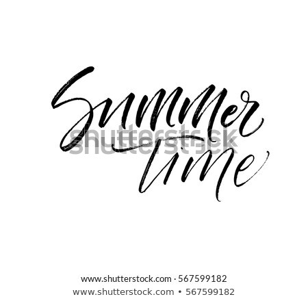 Verano tiempo postal estacional tinta ilustración Foto stock © kollibri