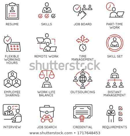Office Arrangement and Worktime Management Icons Stock photo © robuart